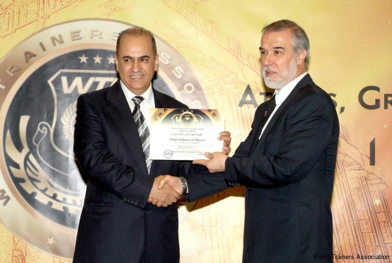 Awarding Mr. Abdul Rahman el Rayess from Lebanon in the WTA Competition of 2013