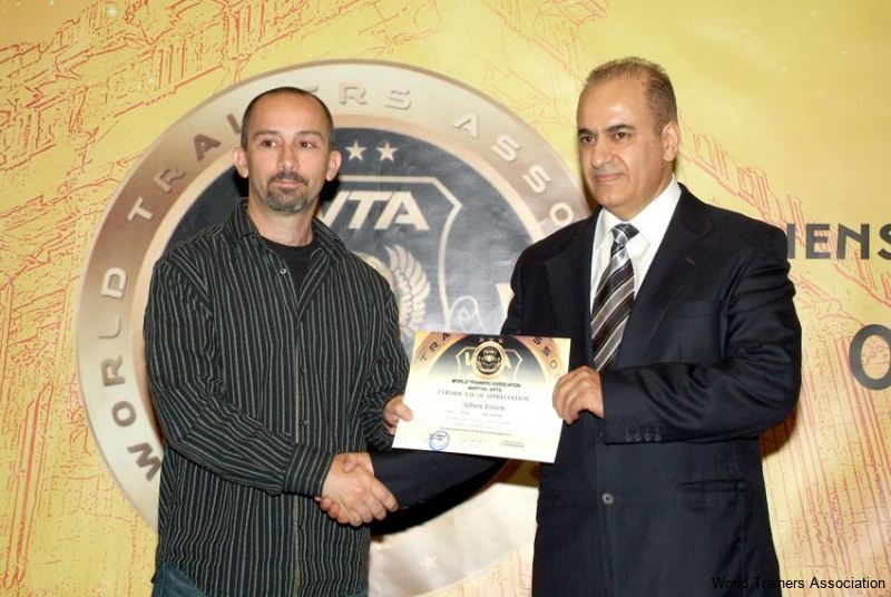 Awarding Mr. Albert Timen from U.S.A. in the WTA Competition of 2013