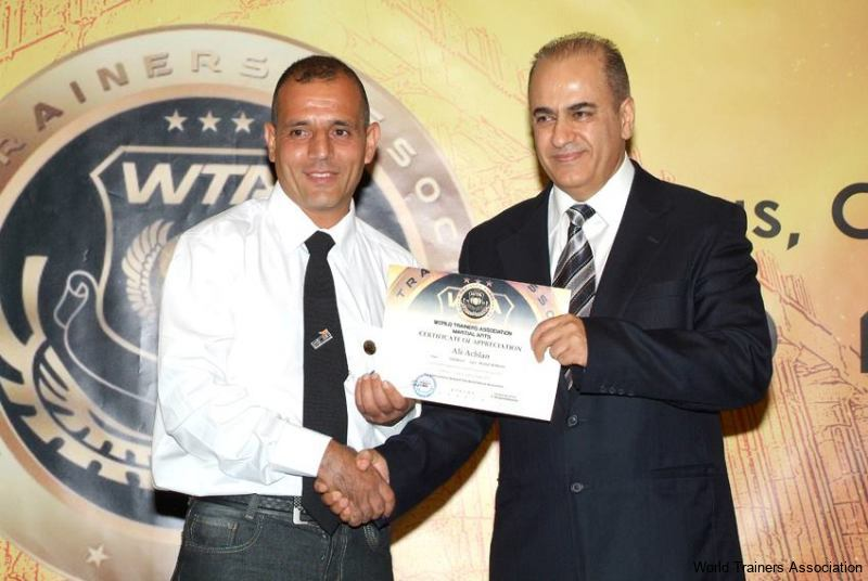 Awarding Mr. Ali Achlan from Lebanon in the WTA Competition of 2013