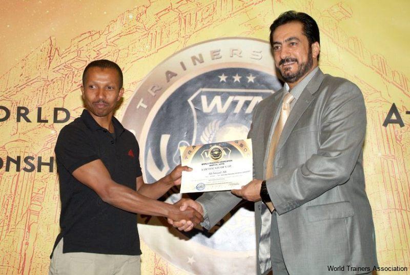 Awarding Mr. Ali-Souad Ali in the WTA Competition of 2013