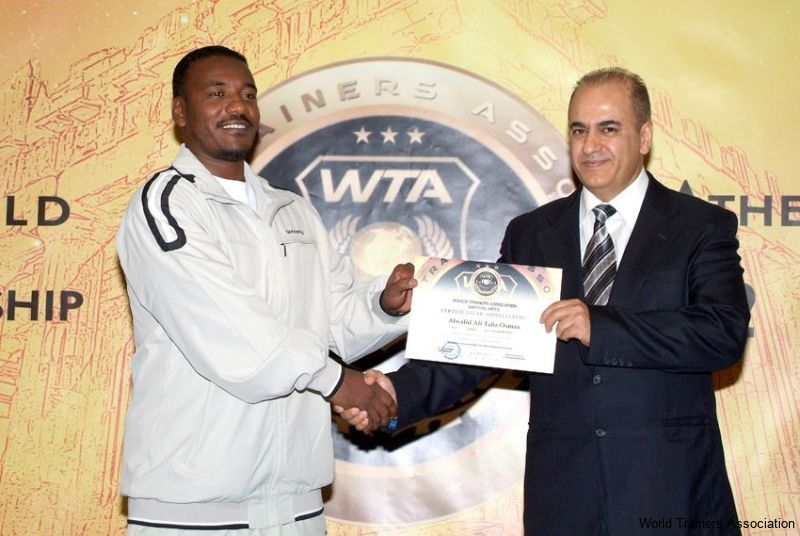 Awarding Mr. Alwalid Ali Taha Osman from Sudan in the WTA Competition of 2013