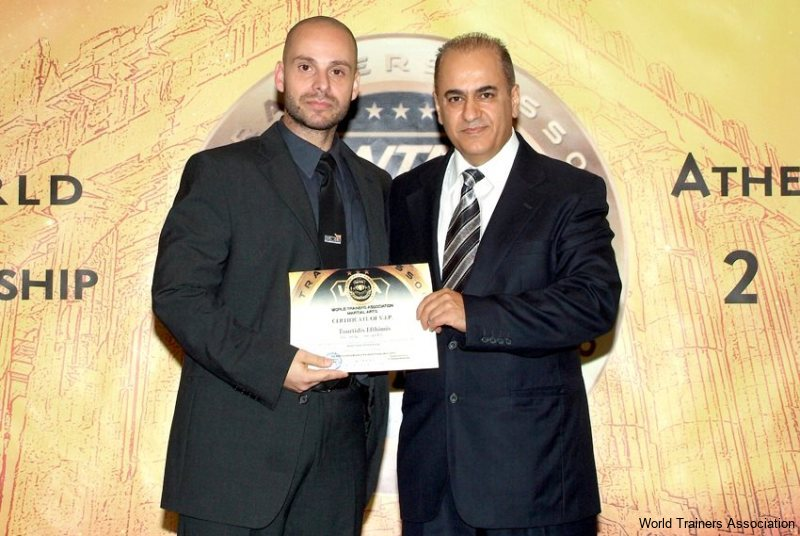 Awarding Mr. Efthimis Tourtidis from Hellas in the WTA Competition of 2013
