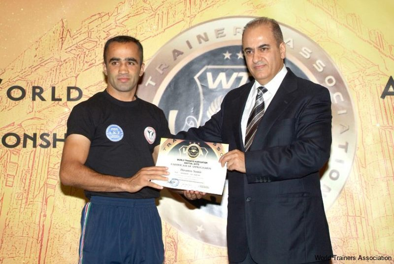 awarding mr. hasanov samir from azerbaijan in the wta competition of 2013