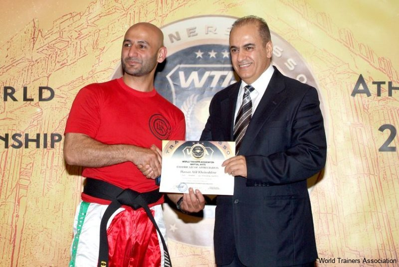 awarding mr. hassan afif hassan kheireddine from lebanon in the wta competition of 2013