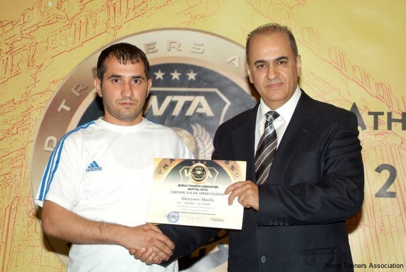 awarding mr. huseynov musfis from azerbaijan in the wta competition of 2013
