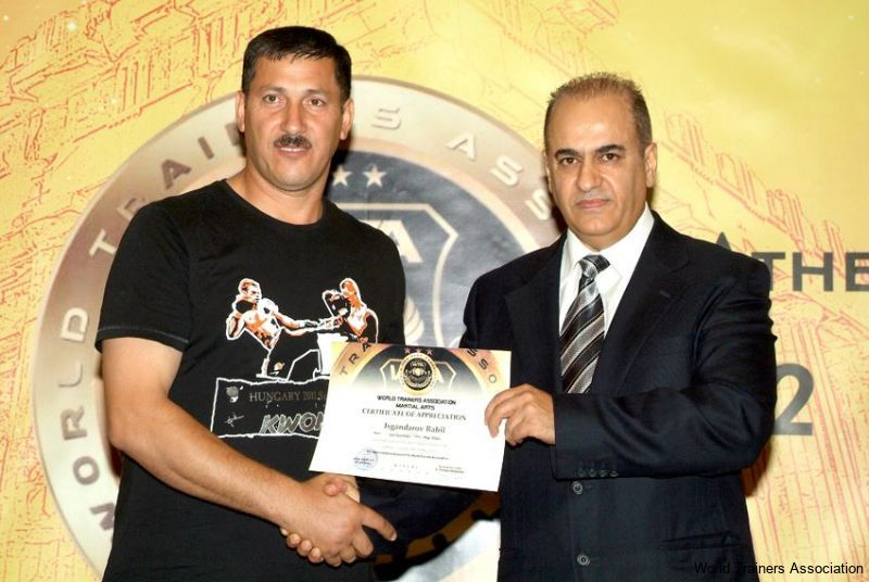 awarding mr. isgandarov rahil from azerbaijan in the wta competition of 2013