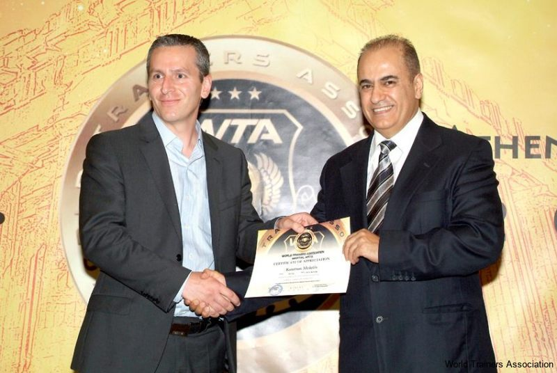 awarding mr. meletis koursos from hellas in the wta competition of 2013