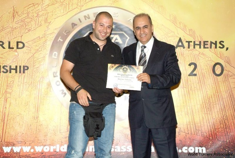 awarding mr. nektarios dourtmes from greece in the wta competition of 2013