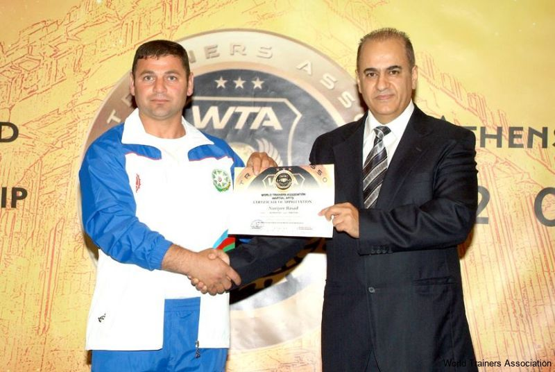 awarding mr. nuriyev rasad from azerbaijan in the wta competition of 2013