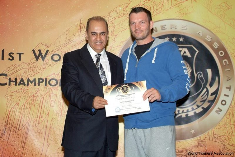 awarding mr. panagiotis sozos in the wta competition of 2013