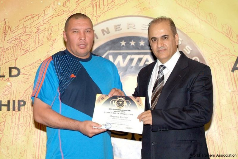 awarding mr. shegenov kerzhan from kazakhstan in the wta competition of 2013