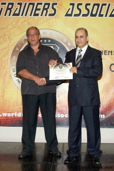 awarding mr. stefanos liatopoulos in the wta competition of 2013