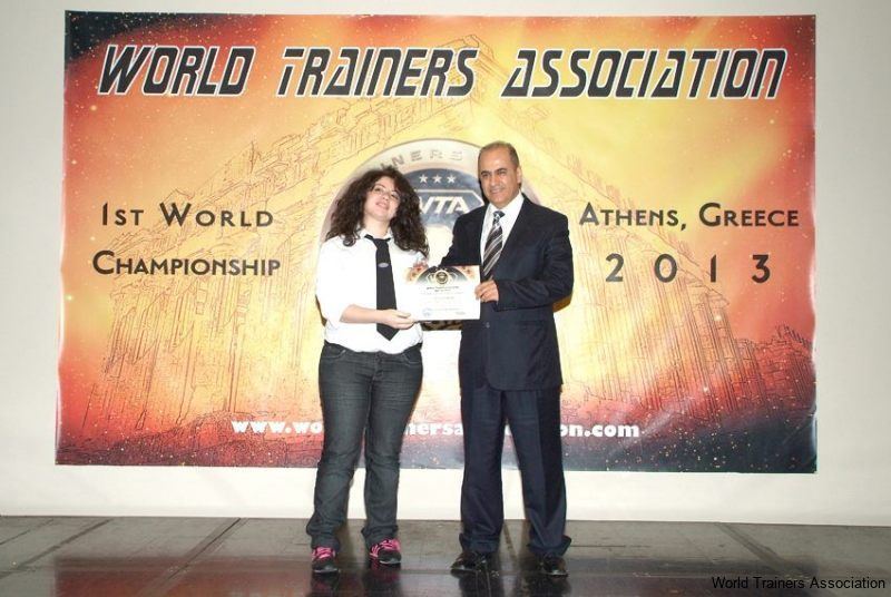 awarding ms. abeer el jurdi from lebanon in the wta competition of 2013