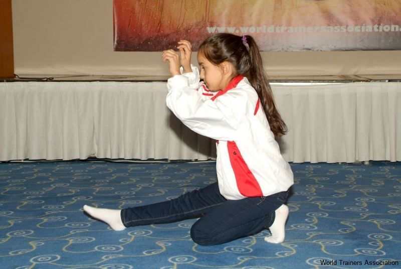 Our little friend from Turkey demonstrating her technique in the WTA Competition of 2013